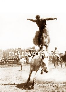 1923 Klamath Falls or Oregon Rodeo Roundup Cowboy Getting Bucked Off