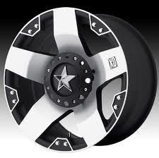 17 inch KMC XD Series Rockstar 775 Wheels Rims 17x8 Black Mach 5x5