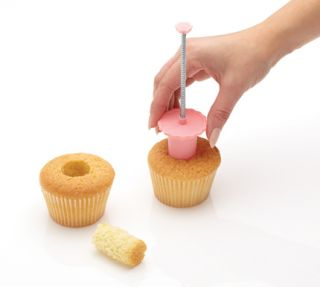 Kitchen Craft Sweetly Does It Pink Cupcake Muffin Cake Corer Plunger