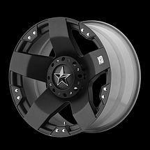 17 inch KMC XD SERIES ROCKSAR 775 WHEELS RIMS 17x9 BLACK 5x5 5x127