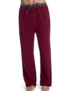 Hanes Mens Sueded Waffle Knit Pants with Flannel Waistband Style