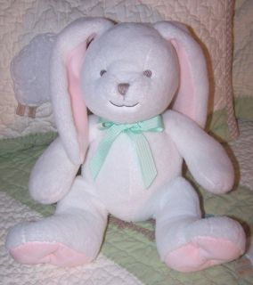 Koala Baby White Pink Plush Stuffed Bunny Rabbit w Stitched Eyes 9