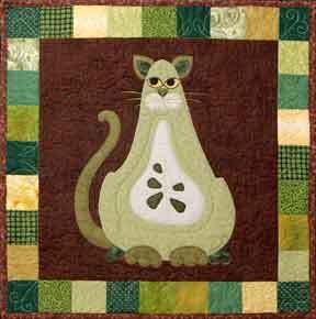 Garden Patch Cats Boscat Quilt Pattern by Helene Knott