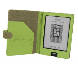 Kobo eReader Touch Edition Natural Hemp Book Style Cover Case Khaki