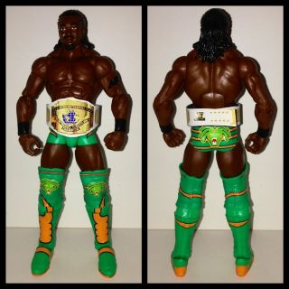 WWE Mattel Kofi Kingston custom IC Belt Wrestling Action Figure Lot
