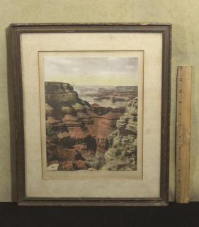 Antique Western Tinted Kolb Brothers Photograph *Grand Canyon Grandeur