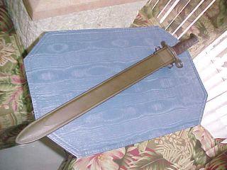 Springfield Rock Island Bayonet M 1905 1917 USN MK I Scabbard 1903