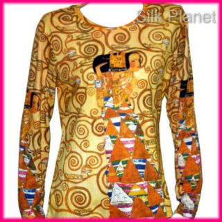 Gustav Klimt Expectation Egypt Painting Symbol LS T Shirt Fine Art