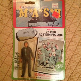 1982 M A s H 4077th Klinger Action Figure New in Box Mash Tristar