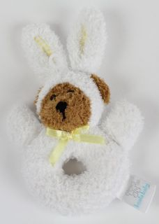 Koala Baby Plush White Bunny Bear Rattle Lovey Toy