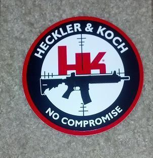 Heckler and Koch HK Firearms Sticker Decal 4 inch Round