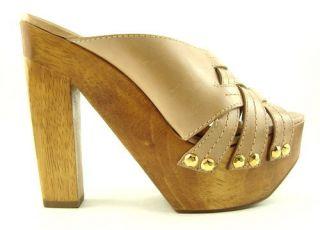 Kors Michael Kors Sassy Natural Womens Shoes Clogs 9