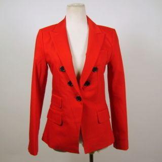 Kourtney Kardashian Express Red Black Button Accent Blazer Size 0