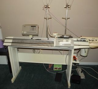 E6000 Passap Knitting Machine with A E3000A Motor and Accessories