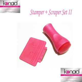 Konad Nail Art Stamper and Scraper Stamp Fast SHIP