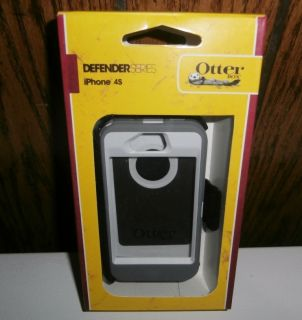 New iPhone 4S & 4 Defender Case & Belt Clip, In Retail, Glacier White
