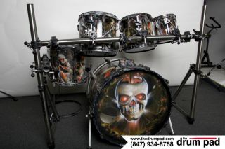 JOEY KRAMERS AEROSMITH KIT TAMA GRANSTAR CUSTOM AIRBRUSHED