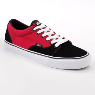 Vans Kress Mens Skate Shoes Sz 12 Black Red Suede