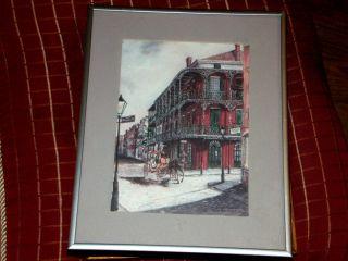 Knut Ken Engelhardt Royal Street Print Framed with Artist Bio