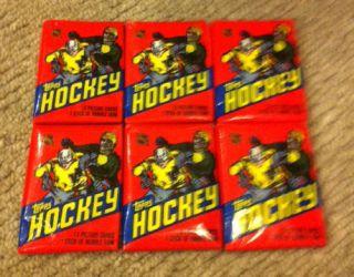 82 Topps Hockey Unopened Wax Pack Lot of 6 Packs Kurri Rookie