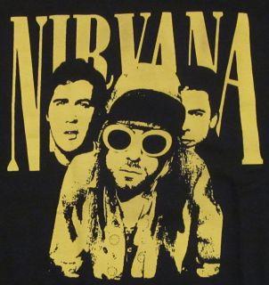 Nirvana T Shirt Kurt Cobain Dave Grohl Alt Rock Grunge Tee Adult s M L