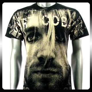 Nirvana Kurt Cobain Rock Punk Music Band T Shirt Sz L
