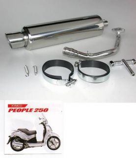 Performance Exhaust for Kymco People 250cc Scooters