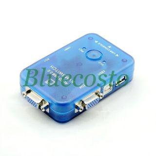 Ports USB 2 0 KVM Auto Automatic Switch Box Video Monitor Mouse