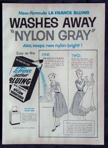Magazine Print Ad 1957 La France Instant Bluing Bleach