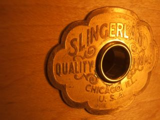 PLY IN ROUND SLINGERLAND RADIO KING SHELL KRUPA 7 EARLY VINTAGE 1939