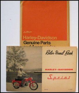 1963 Harley Davidson Aermacchi Sprint Owners Manual Rider Handbook
