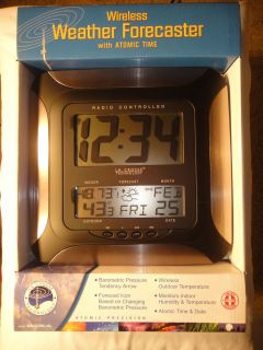 La Crosse Technology Wireless Weather Forecaster w Atomic clock New in