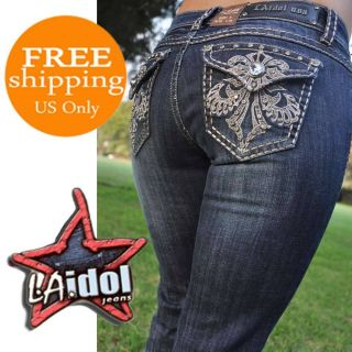 La Idol Jeans Sz 1 13 Dark Blue New Model Bootcut Fast Shipping 667LP