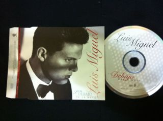 LUIS MIGUEL Por Debajo de la Mesa Scarce Unique Brazil Promo SINGLE CD