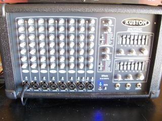Kustom PA System Model KPM8420 2x200 Watt Powered Mixer