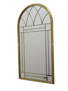 1970s Solid Brass Multi Beveled Mirror by Labarge