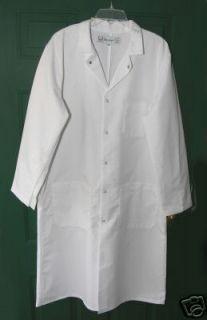 Mens White Medical Lab Coat Cintas New Size Medium