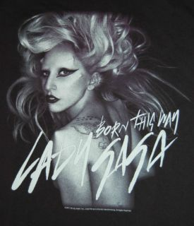 Lady Gaga Born This Way 2011 Monster Ball Tour Black Shirt Adult Small