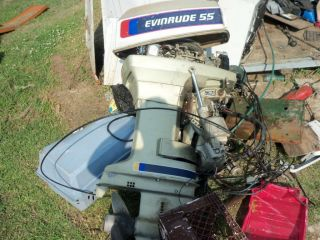 55 HP Evinrude Outboard Motor BEEN in Shed for Years Now WonT Start