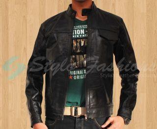 Transformers 3 Shia LaBeouf Black Sheepskin Leather Jacket