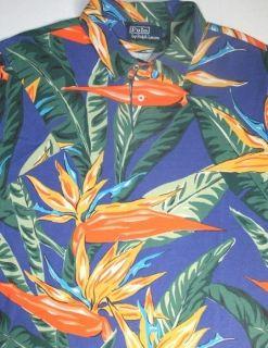 Polo Ralph Lauren Tropical Hawaiian Mesh Shirt L