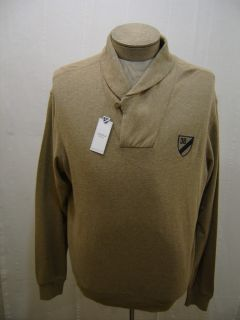 Daniel Cremieux Mens L Polo Shawl Collar Pullover Knit Sweater Tan