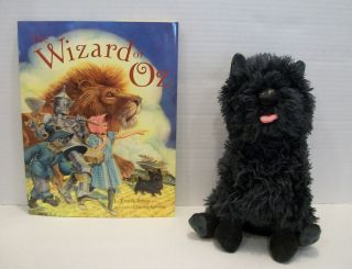 Wizard of oz Stuffed Plush Toto Toy and Book by L Frank Baum