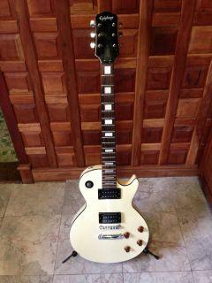 Epiphone Les Paul L P 100 Korean Tuxedo White Electric Guitar MIK