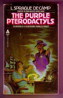 Purple PTERODACTYLS Signed by L Sprague de Camp Short Stories
