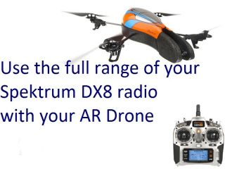 AR Drone RC 2 4 GHz Spektrum DX8 Receiver Kit aka The MacGyver Mod