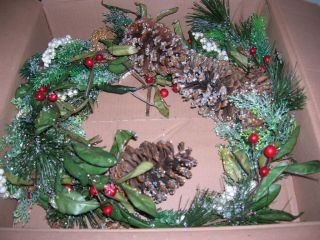 Christmas Sugared Berry and Pine Flexible Garland by Valerie Parr