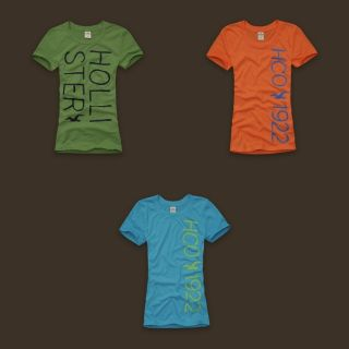 2011 Hollister Womens Graphic Laguna Hills Tee T Shirt Top Green