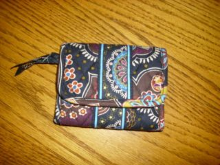 Vera Bradley Tri Fold Wallet in HTF Retired Kensington Pattern VEUC