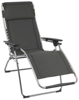 Lafuma Clipper Zero Gravity Chair Ardoise Grey Padded Recliner